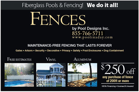 Pool designs inc fence installation services from pool for Pool designs yardville nj