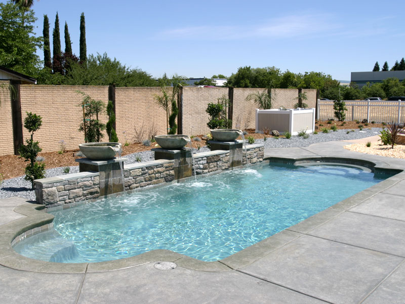 Pool designs inc classic model viking pools fiberglass for Pool design inc
