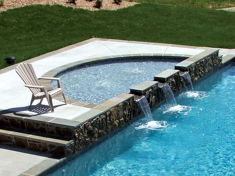 Pool designs inc tanning ledges for your viking pools for Pool designs venice