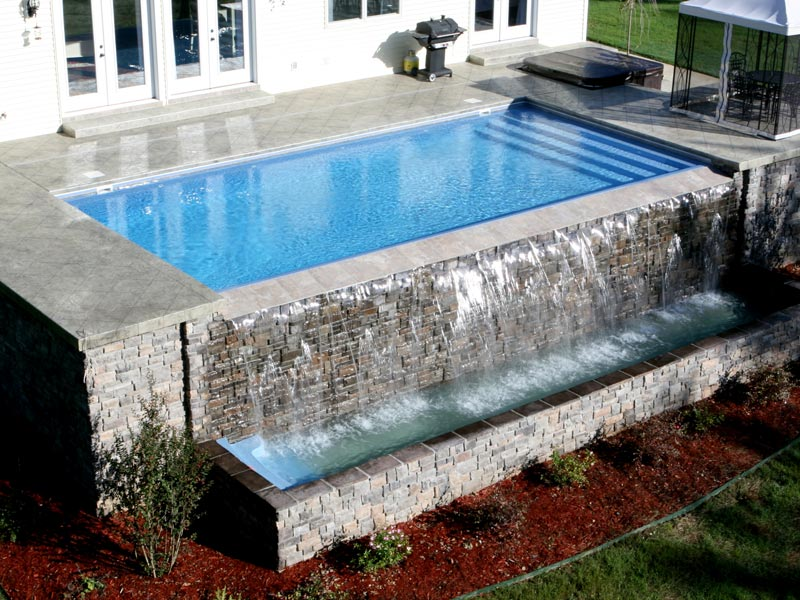 Pool designs inc vanishing edges for your fiberglass for Pool edges design